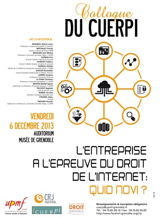 Colloque CUERPI - GRENOBLE